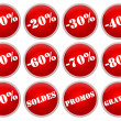 Set icones rouges soldes et promotions — Stock Photo #2119182