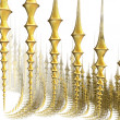 Gold fence fractal — Stock Photo #1840311