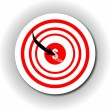 One arrow in a target on wall with dolla — Stock Photo