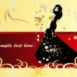 Royalty-Free Stock Vector Image: Bride in the wedding invitation for wedd