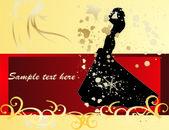 Novia de las invitaciones de boda — Vector de stock