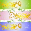 Royalty-Free Stock Vector Image: Set flower background,