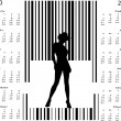 Royalty-Free Stock Vector Image: Bar code woman in calendar