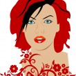 Royalty-Free Stock Vector Image: Beautiful girl\'s face