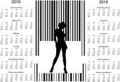Bar code woman in calendar — Stock Vector