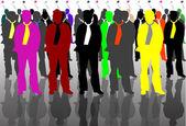 色のビジネス男 — ストックベクタ