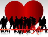 Background valentine's day — 图库矢量图片