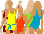 Girl in swimwear — Stock Vector