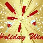Holiday Wine celebration — Stock Vector