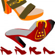 Shoes for summer - Stock Vector