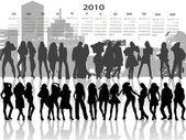 Young in calendar — Stock Vector