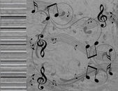 Musical note are on the grey background — Stock Photo
