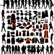 Royalty-Free Stock Vector Image: Silhouettes with Accessories