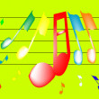 Royalty-Free Stock Vector Image: Musical notes in color