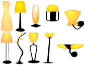 Ten lamp — Stock Vector