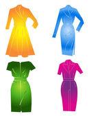 Kvinnor kläder — Stockvektor
