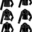 Silhouette jacket — Stock Vector