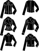 Silhouette jacket — Vector de stock