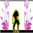 Fashion silhouettes woman - Stock Vector
