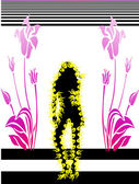 Fashion silhouettes woman — Stock Vector