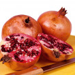 Three pomegranates - Stock Photo