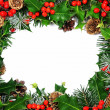 Christmas holly border - Stock Photo