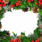 Christmas holly border — Stock Photo