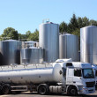 Refrigerated Milk Tankers - Stock Photo