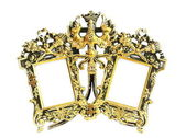 Antique silver vermeil frame — Stock Photo