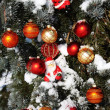 Photo: Background Christmas decorations in snow