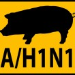 Swine Flu Hazard Warning Sign — Stock Photo