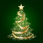 Green christmas star tree background — Stock Photo