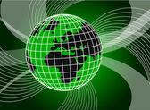 Background with swirls and globe — Stock Photo