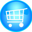 Royalty-Free Stock Imagem Vetorial: Shopping button - blue