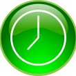 Stock Vector: Green time button