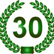 Green laurel wreath 30 years — Stock Photo #1919315