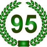 grön lagerkrans 95 år — Stockfoto