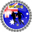 Stock Photo: World championship button australia