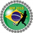 Stock Photo: World championship button brazil