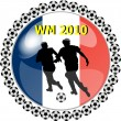 Stock Photo: World championship button france