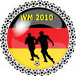Stock Photo: World championship button germany