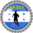 World championship button honduras — Stock Photo