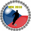World championship button czech republik — Stock Photo
