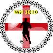 World championship button england — Stock Photo