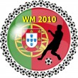 Stock Photo: World championship button portugal