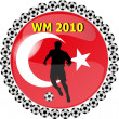 Stock Photo: World championship button turkey