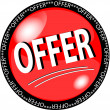 Stock Photo: Red offer button