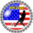 Stock Photo: World championship button usa