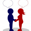 Clipart couple .- man and woman — Stock Photo