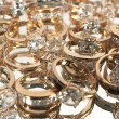 Lot of rings with big diamonds - Stock Photo